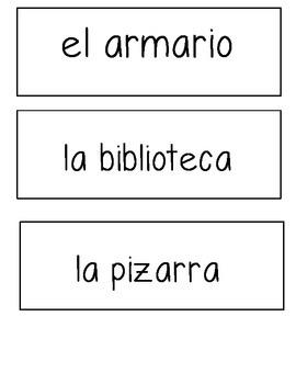 Spanish Classroom Labels Printable