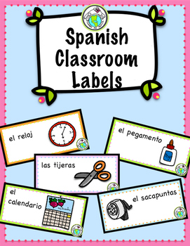 Spanish Classroom Labels for Classroom Decor
