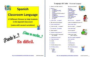 Spanish Classroom Language - Lenguaje del Aula
