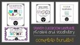 Spanish Classroom Language & Vocabulary Activities Bundle