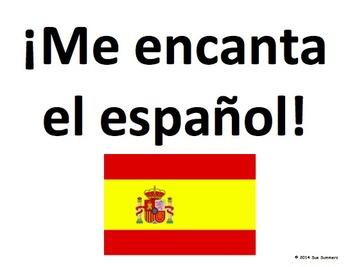 Spanish Classroom Language Word Wall