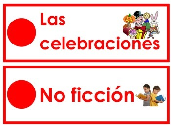 Spanish Classroom Library Labels