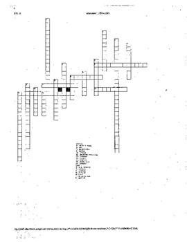 Spanish Classroom Object Collaborative Crosswords