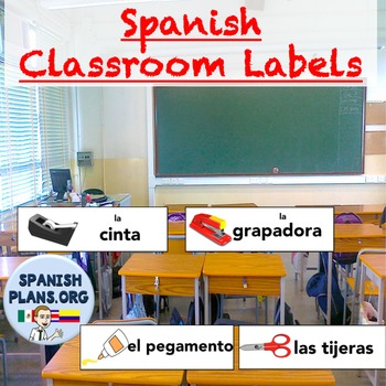 Spanish Classroom Object Labels