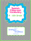 Spanish Classroom Objects Bulletin Board Activity Word Wall 3rd 4th 5th 6th