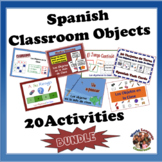 Spanish Classroom Objects Bundle