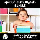 Spanish Classroom Objects Bundle: 3rd to 6th Grade - PRESA
