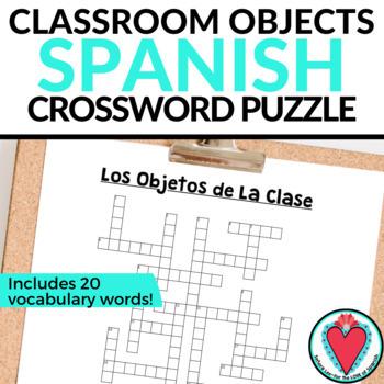 Spanish Class Objects CROSSWORD