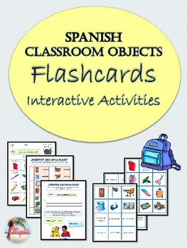 Spanish Classroom Objects Flashcards