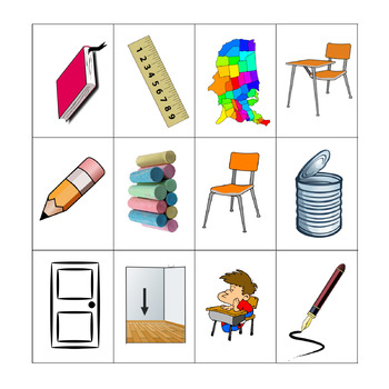 spanish classroom objects listening and speaking paired activities. Black Bedroom Furniture Sets. Home Design Ideas