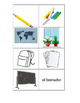 Spanish Classroom Objects Memory Game