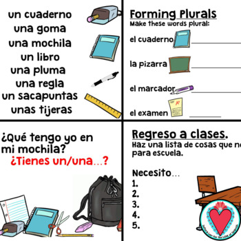 Spanish Class Objects POWERPOINT unit