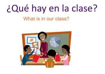 Spanish Classroom Objects Practice