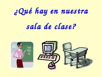 Spanish Classroom Objects Slideshow