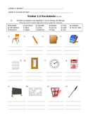 Spanish Classroom Objects--Vocab & Grammar Practice