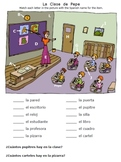 Clase: Spanish Classroom Objects Worksheets