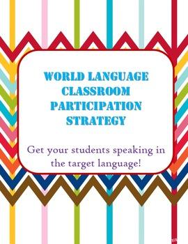 Spanish Classroom Participation Strategy