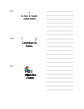 Spanish Classroom Phrases Lesson Plan