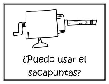 Spanish Classroom Phrases Mini Posters