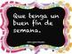 Spanish Classroom Phrases Poster Set 21 Posters en Español