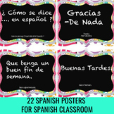 "22  Spanish ""Classroom Phrases"" Word Wall Posters"
