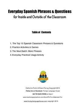 Speak Spanish on Day 1: Spanish Classroom Survival Phrases: