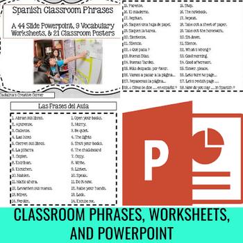 Spanish Classroom Phrases 21 Poster Set And Bonus Vocabulary