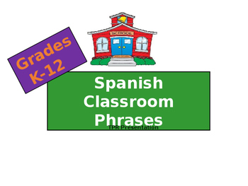 Spanish Classroom Phrases TPR Presentation