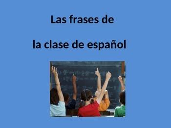 Spanish Classroom Phrases Unit