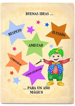 """Spanish Classroom Poster: """"Buenas Ideas para un Año Mágico"""""""