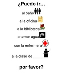 Spanish Classroom Poster- Can I go...