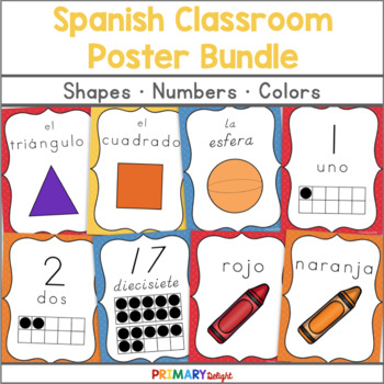 Spanish: Classroom Posters Bundle (Colors, Numbers & Shapes)