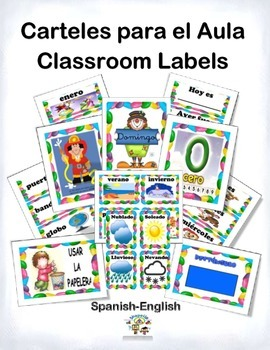 Spanish Classroom Posters, Labels and Signs / Carteles par