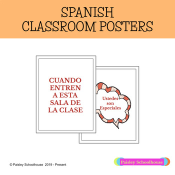 Spanish Classroom Posters - Welcoming