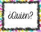 Spanish Classroom Question Word Signs