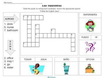 Spanish Passwords, Classroom Questions,  Puzzles