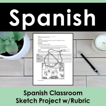 Spanish Classroom Replica Project w/Rubric
