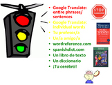 Spanish Classroom Resources: Stoplight Graphic