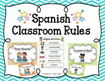 Spanish Classroom Rules (Ch... by Alma Solis | Teachers Pay Teachers