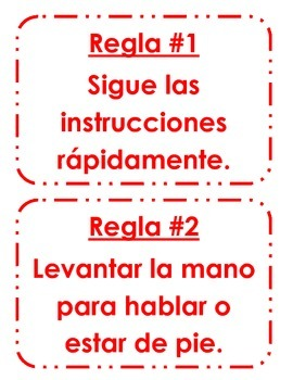 Spanish Classroom Rules