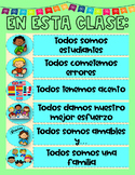 Spanish Classroom Rules Poster - Spanish  Bulletin Board