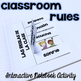 Spanish Classroom Rules for Interactive Notebooks