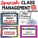 Spanish Classroom Management ~MINI-POSTERS~