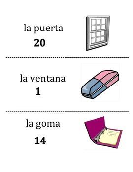 Spanish Classroom Object Vocabulary Scavenger Hunt Activity