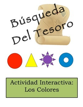 Spanish Color Vocabulary Scavenger Hunt Activity