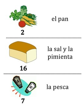 Spanish Food and Drink Vocabulary Scavenger Hunt Activity