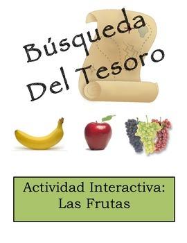 Spanish Fruit Vocabulary Scavenger Hunt Activity