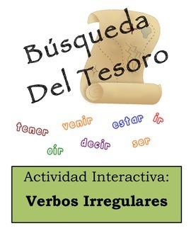 Spanish Irregular Verbs Scavenger Hunt Activity