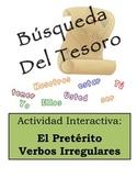 Spanish Preterite (Irregular Verbs) Scavenger Hunt Activity