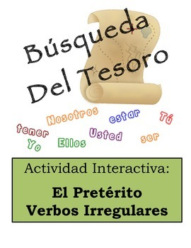 Spanish Preterite (Irregular Verbs) Scavenger Hunt Activity